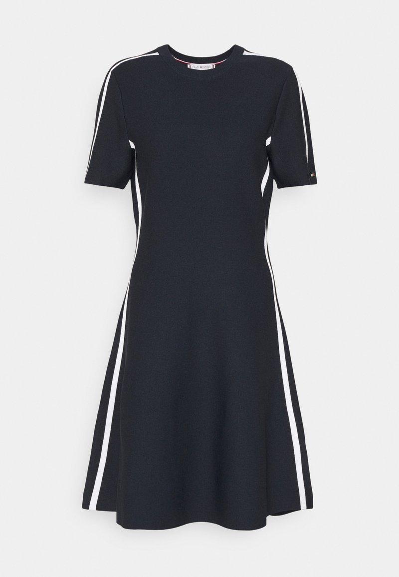Tommy Hilfiger - COLOURBLOCK KNEE DRESS  - Day dress - desert sky