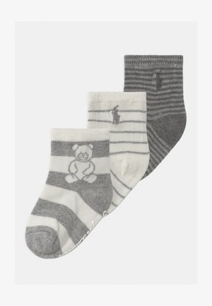 RUGBY BEAR 3 PACK UNISEX - Ponožky - grey cream