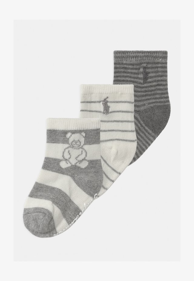 RUGBY BEAR 3 PACK UNISEX - Sokken - grey cream