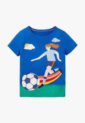 Print T-shirt - blitzblau, fußballerin