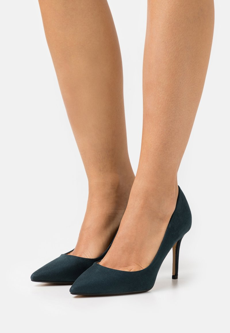 Dorothy Perkins Wide Fit - WIDE FIT DELE POINT STILETTO - Classic heels - teal