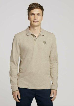 Poloshirt - cosy soft beige melange