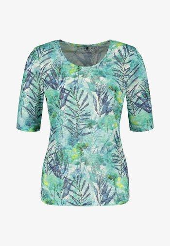 Print T-shirt - green/blue