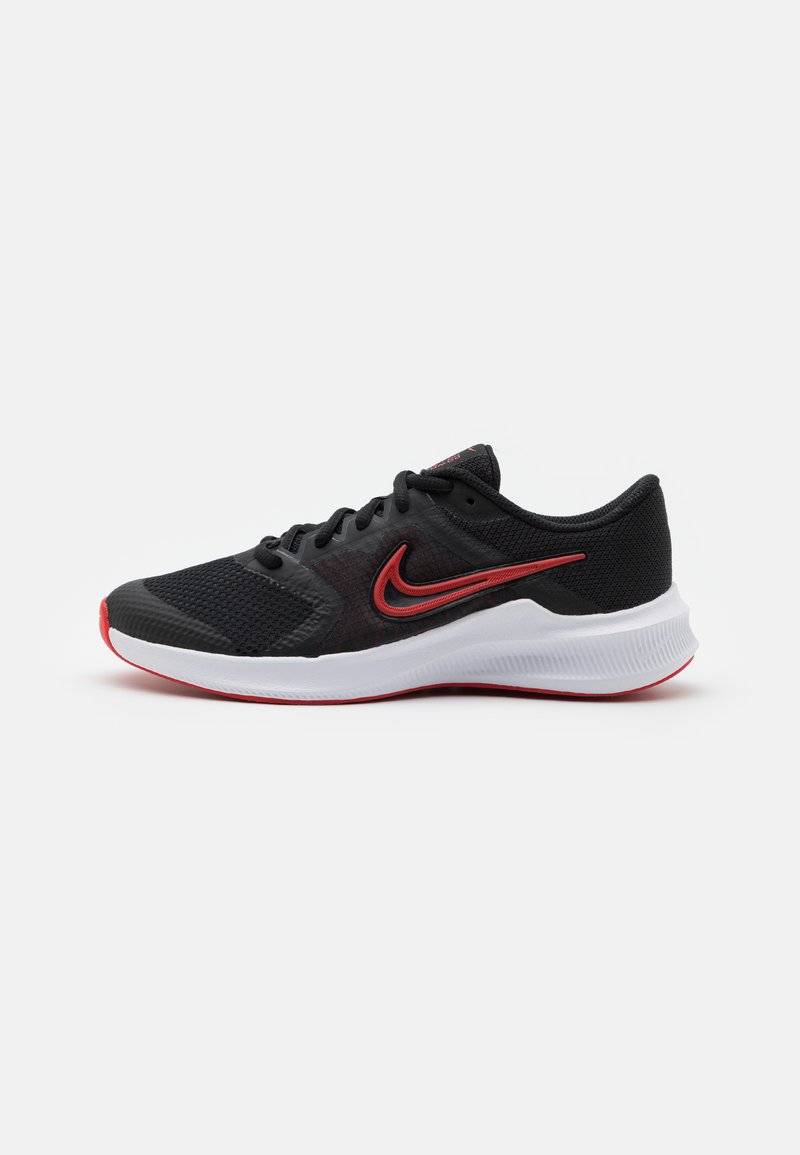 Nike Performance - DOWNSHIFTER 11 UNISEX - Neutral running shoes - black/universe red/dark smoke grey/white