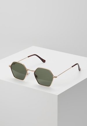 Sunglasses - gold/green lens