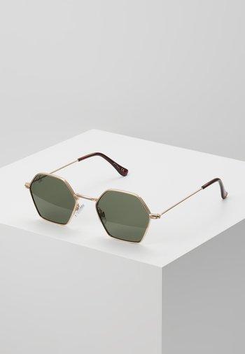Sunglasses - gold/green lens