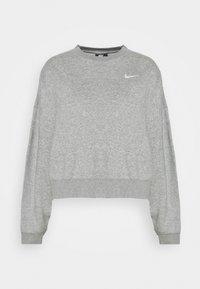 CREW TREND - Sweatshirt - dark grey heather/matte silver/white