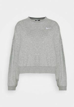 CREW TREND - Sweatshirt - dark grey heather/matte silver/white