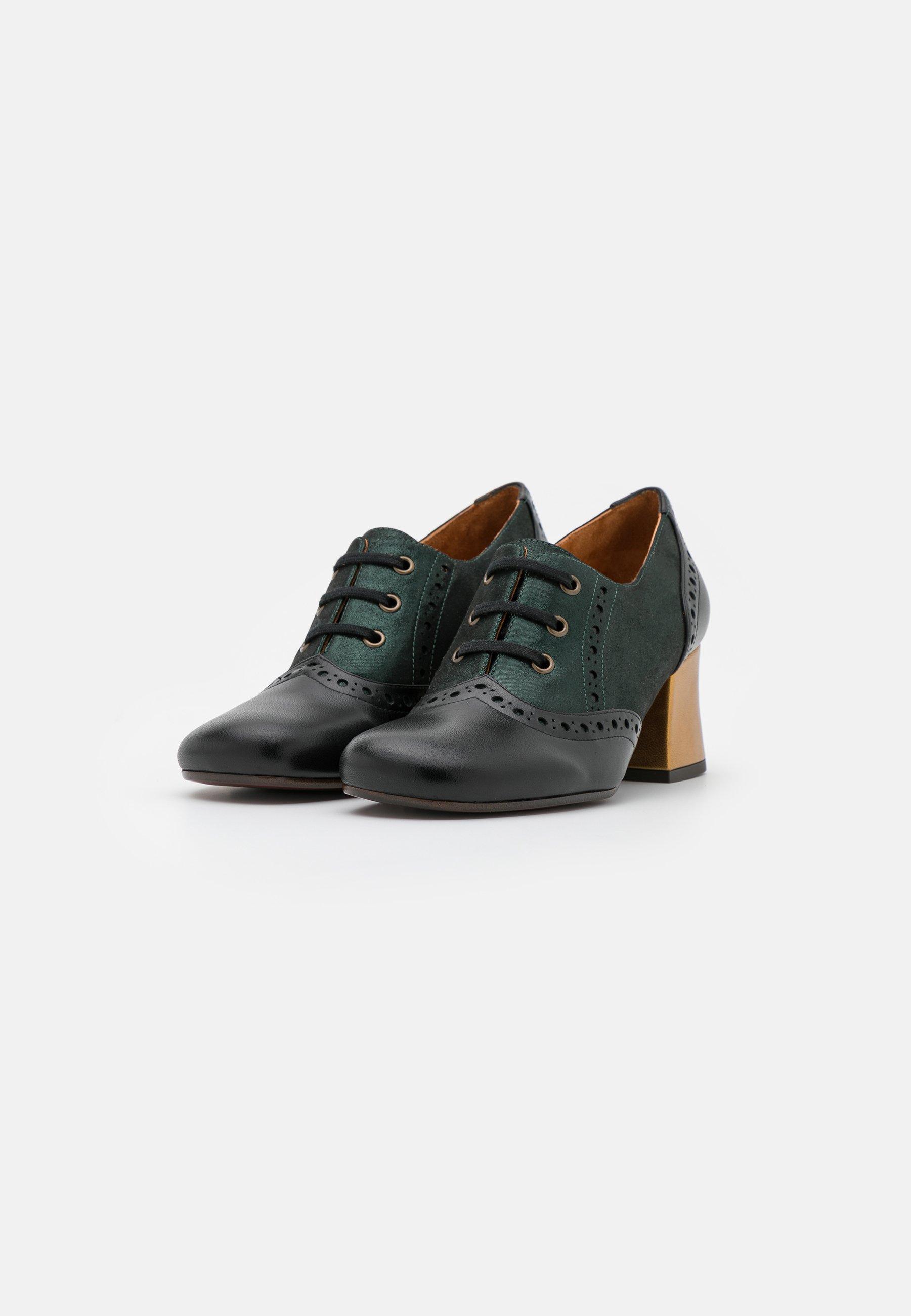 Women MICUCA - Lace-up heels - metallic green