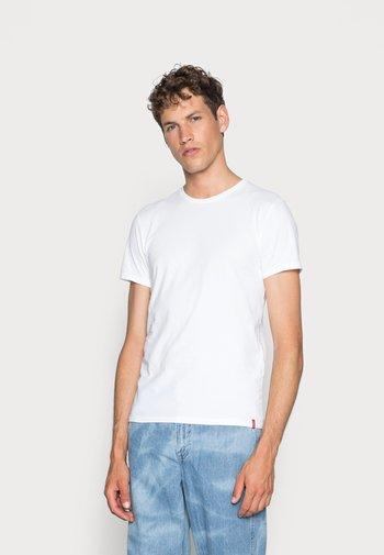 SLIM CREWNECK 2 PACK - T-shirt - bas - white/white