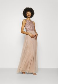 Maya Deluxe - CUT OUT BACK DELICATE SEQUIN MAXI DRESS - Occasion wear - taupe blush - 1