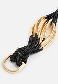 sweet deluxe - BRACELETT - Bracelet - black/gold-coloured - 2