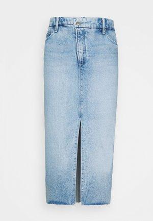 CROSS OVER PENCIL SKIRT - Denim skirt - blue