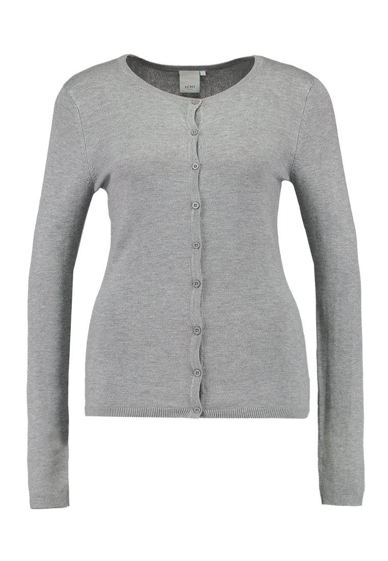 Ichi Mafa - Cardigan Grey Melange/grå-melert