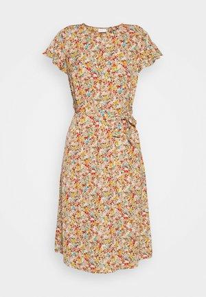 VIFLUMA MEDI DRESS - Day dress - beige/small red/blue/yellow