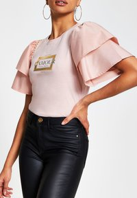 River Island - AMOUR - Print T-shirt - pink - 0