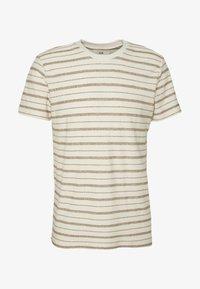 Folk - TEXTURED STRIPE TEE - Print T-shirt - ecru woad - 4