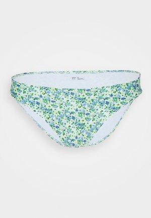 PRINT - Bikini bottoms - eyelet blue