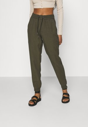 ONLKELDA EMERY PULL UP PANTS - Trousers - grape leaf