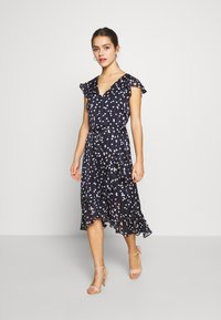 Wallis Petite - SPOT RUFFLE DRESS - Day dress - ink - 2