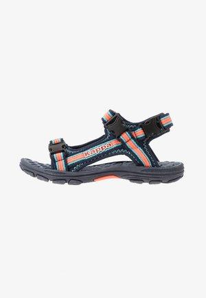 RUSHEEN - Walking sandals - navy/coral