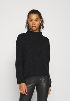 VISURIL KNIT FUNNEL NECK  - Strikkegenser - black