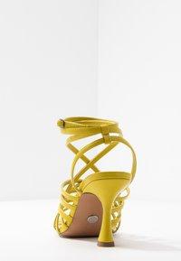 Topshop - RHAPSODY STRAPY - Sandály na vysokém podpatku - lime - 5