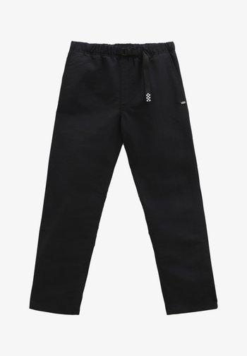 MN RIDGE LOOSE TAPERED NYLON ELASTIC PNT - Trousers - black