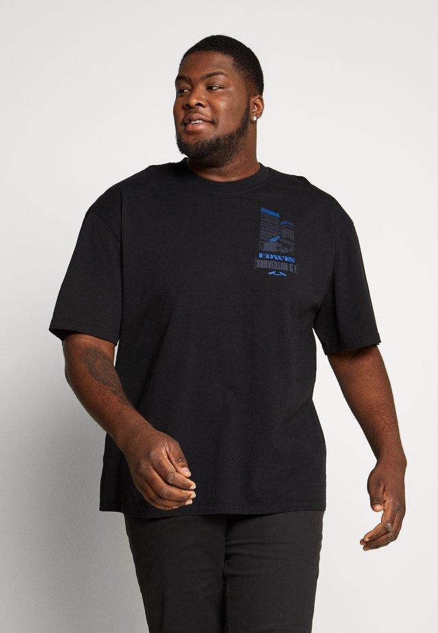 SURVEILLANCE - Camiseta estampada - black