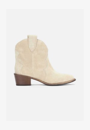 VIOLA - Cowboy/biker ankle boot - beige