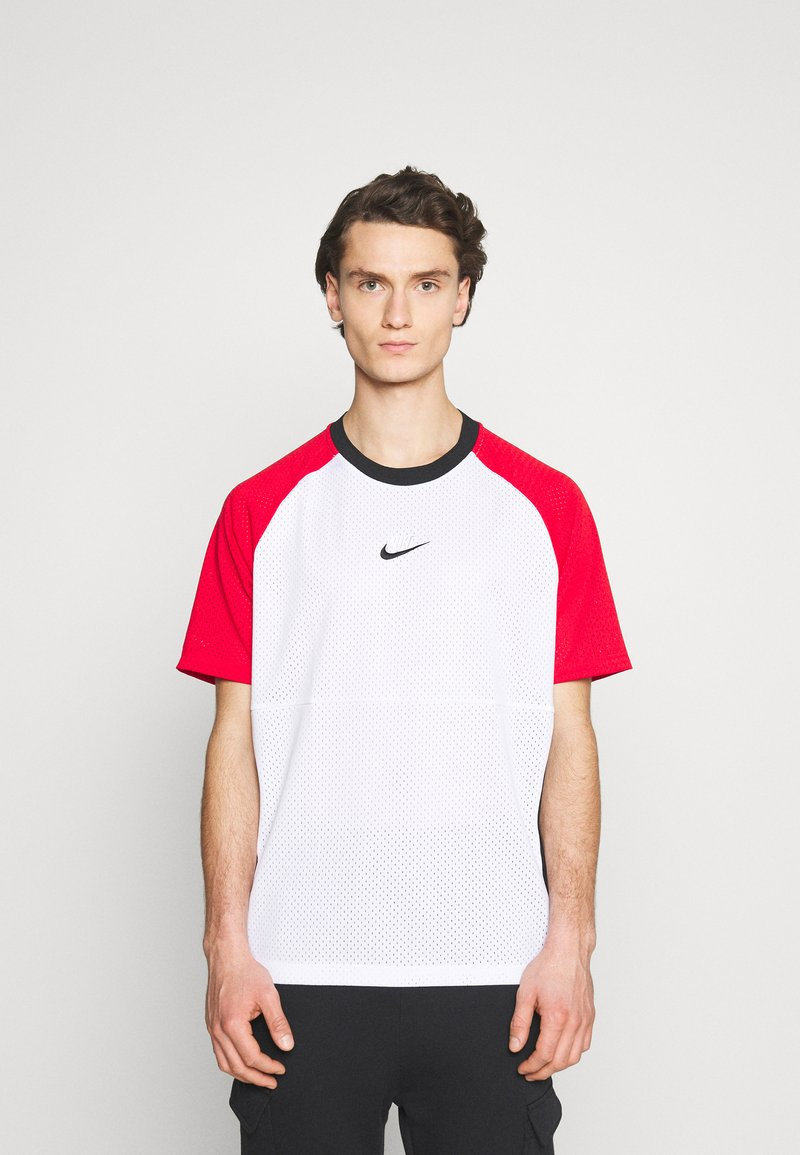 Nike Sportswear - Print T-shirt - white/university red/black