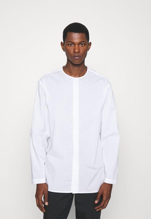 COLLARLESS SHIRT - Shirt - white