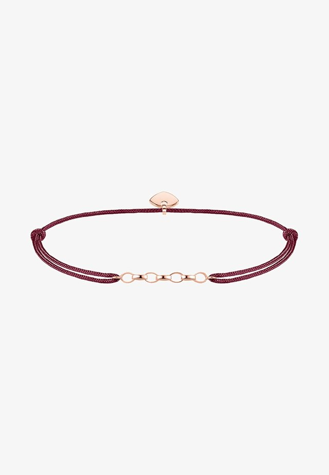Armband - rosegold coloured, red