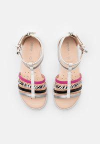 Geox - KARLY GIRL - Sandals - white/silver/black - 3