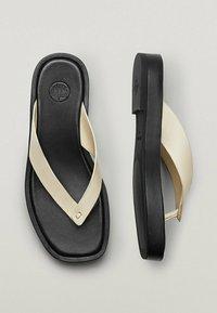 Massimo Dutti - T-bar sandals - beige - 4