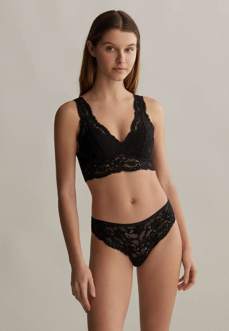 OYSHO - WITH REMOVABLE CUPS - Bustier - black