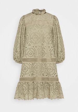 DRESS PUFFY SLEEVES MINI - Denní šaty - frosty sage