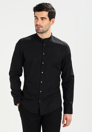 MANDARIN TAPE SLIM FIT - Camisa - schwarz
