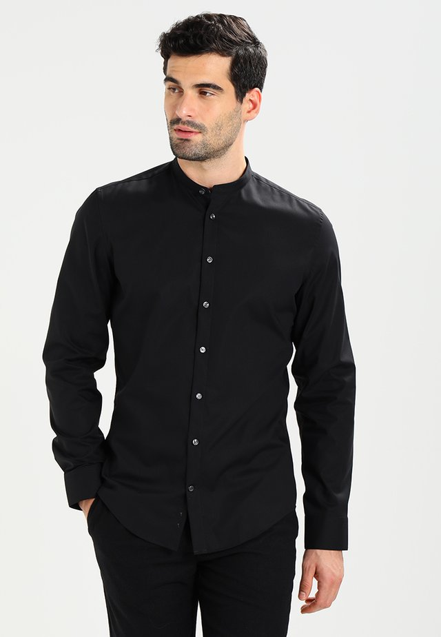 MANDARIN TAPE SLIM FIT - Skjorta - schwarz