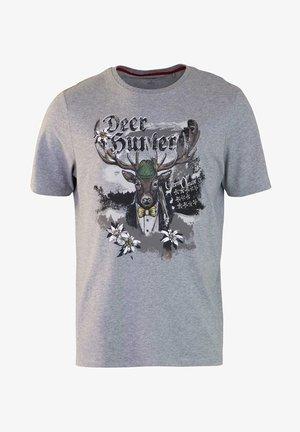 MODERN FIT - Print T-shirt - grau