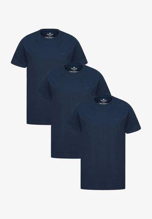 3ER PACK - Basic T-shirt - blau
