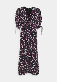DRESS - Day dress - black/pink