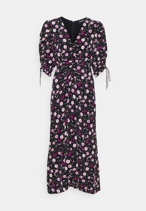 DRESS - Maxi dress - black/pink