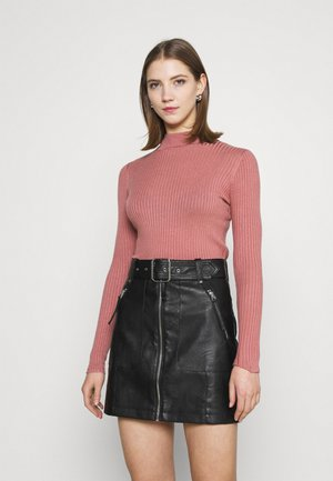 QUINNY VARIGATED - Pullover - old rose