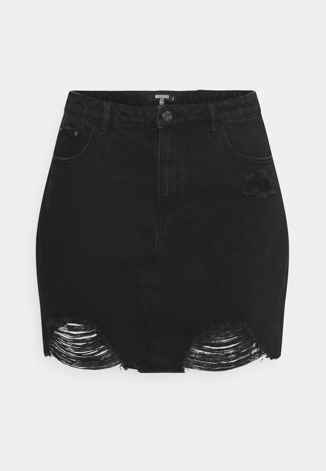 RIPPED SKIRT - Minigonna - black