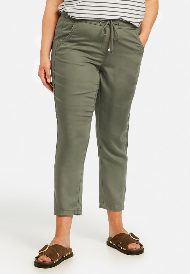 Trousers - cactus green