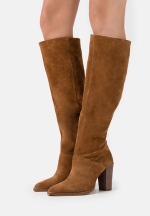 NEW AMERICANA - High heeled boots - cognac