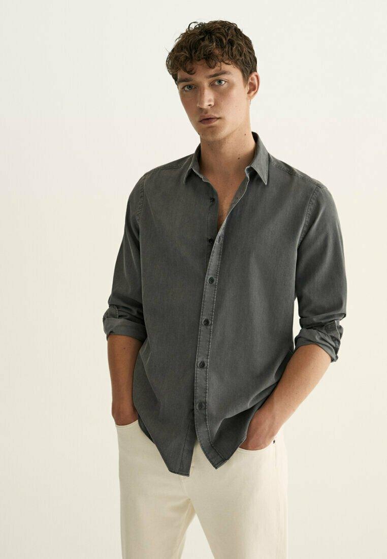 Massimo Dutti - Shirt - metallic grey