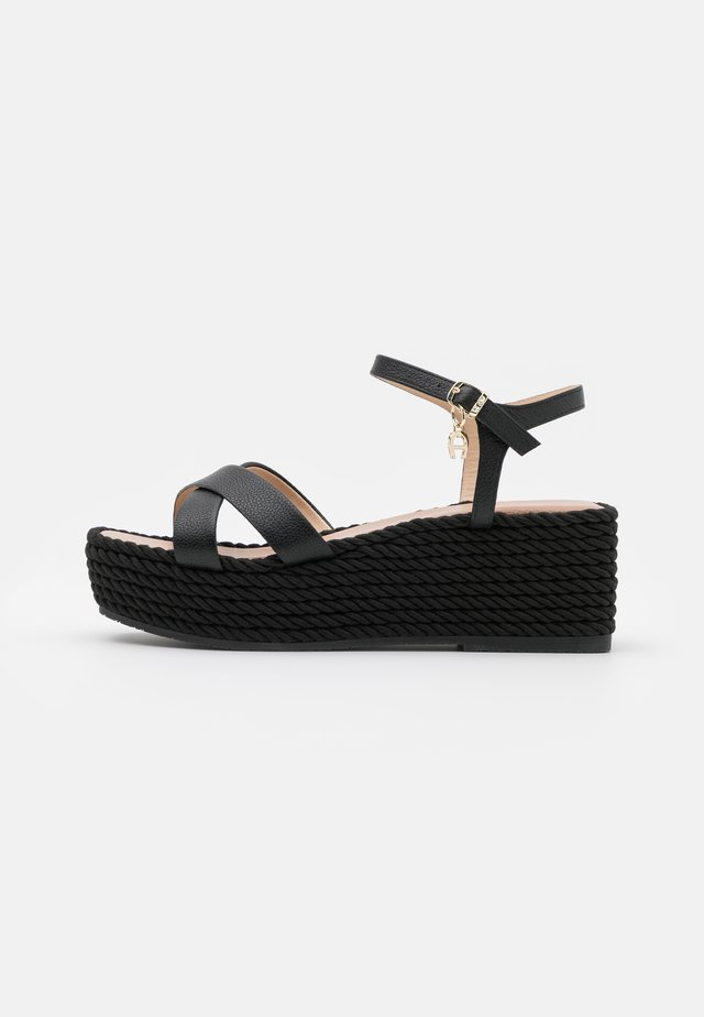 GRAZIELLA  - Sandály na platformě - black