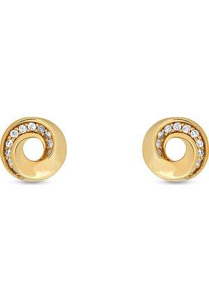 JETTE SILVER DAMEN-OHRSTECKER 925ER SILBER 22 ZIRKONIA - Earrings - gold